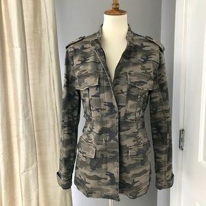 Anthropologie Sanctuary stretch camo jacket